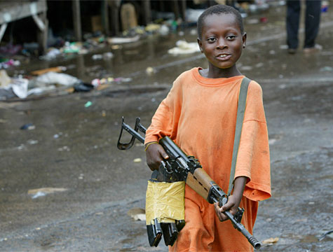 Dead Child Soldiers In Africa